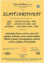 ISO 9001-Gold Certificate